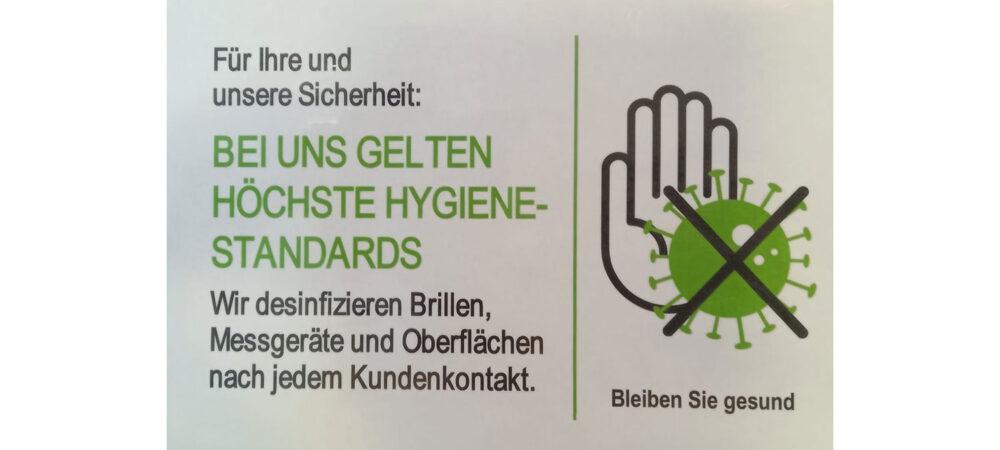 Wir passen unser Hygienekonzept jeweils entsprechend an
